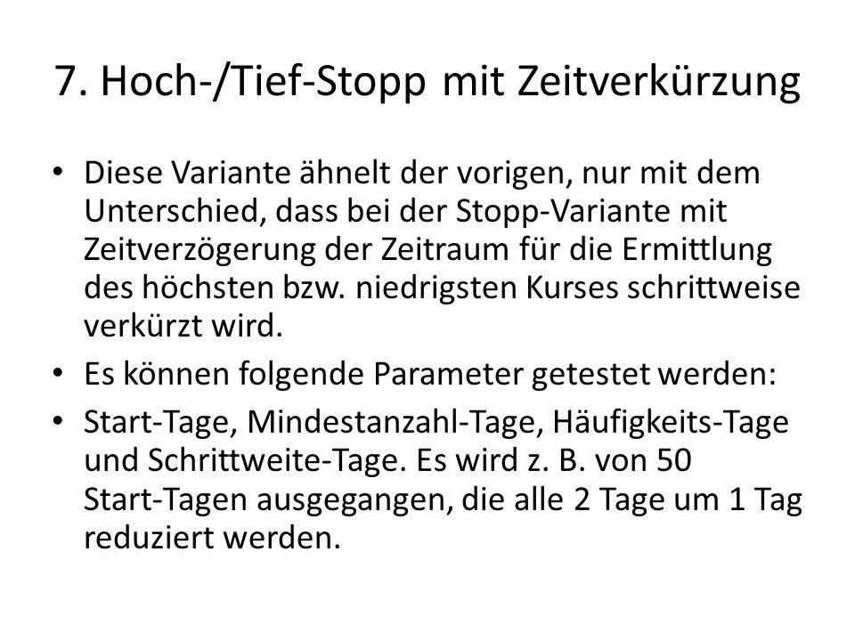 7. Hoch-/Tief-Stopp mit Zeitverkürzung