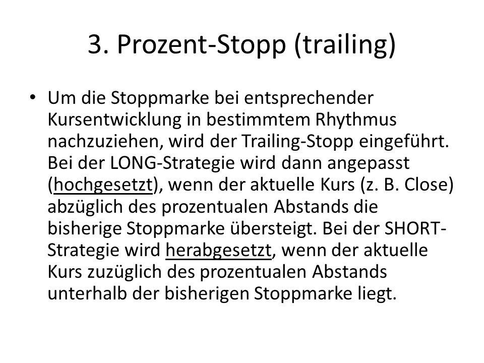 3. Prozent-Stopp (trailing)