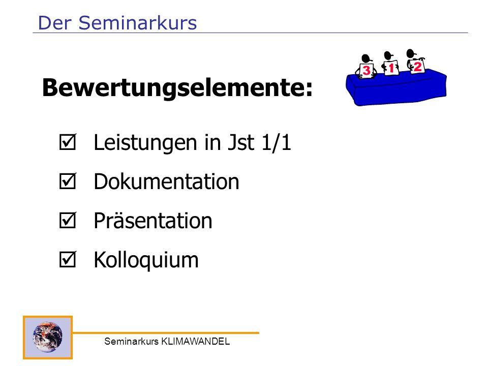 Seminarkurs KLIMAWANDEL