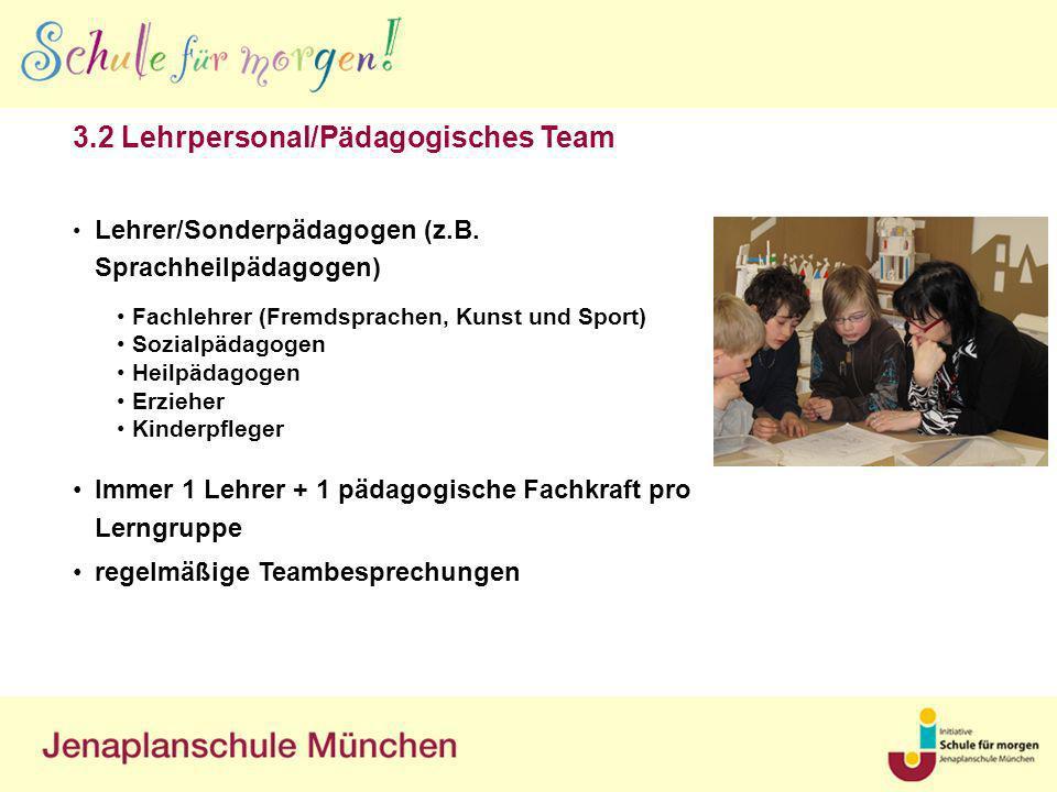 3.2 Lehrpersonal/Pädagogisches Team