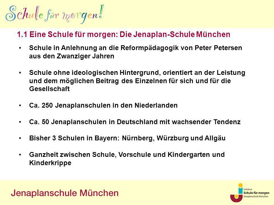 1.1 Eine Schule für morgen: Die Jenaplan-Schule München