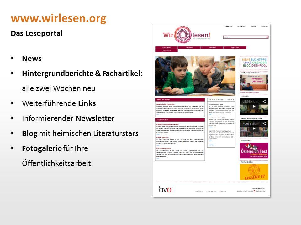 www.wirlesen.org Das Leseportal News