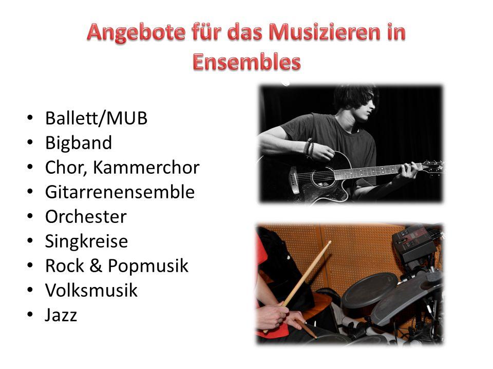 Angebote für das Musizieren in Ensembles