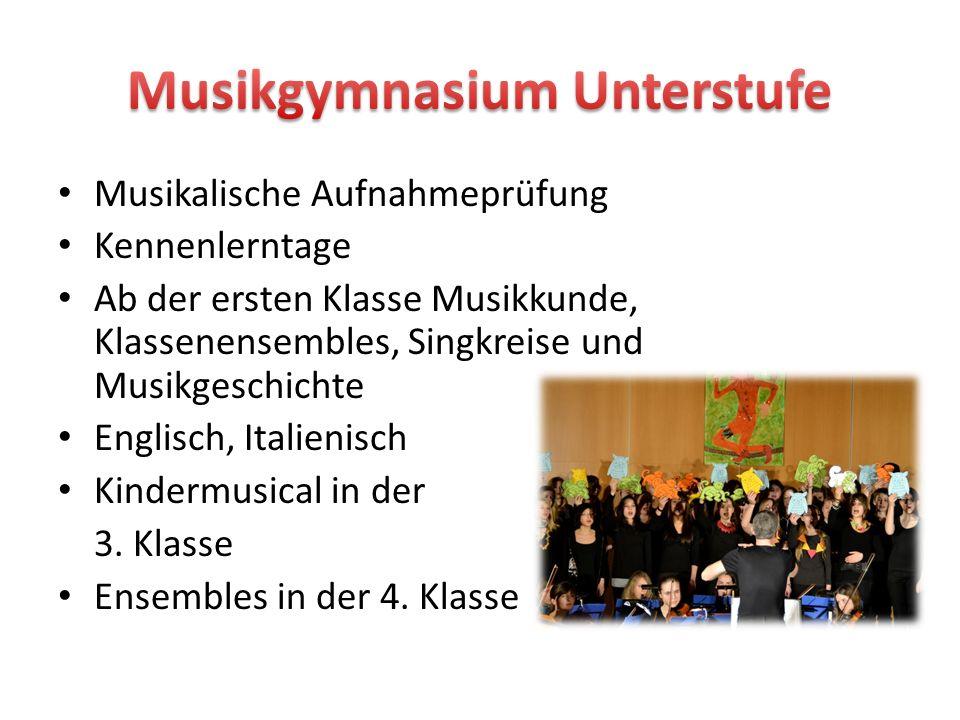 Musikgymnasium Unterstufe