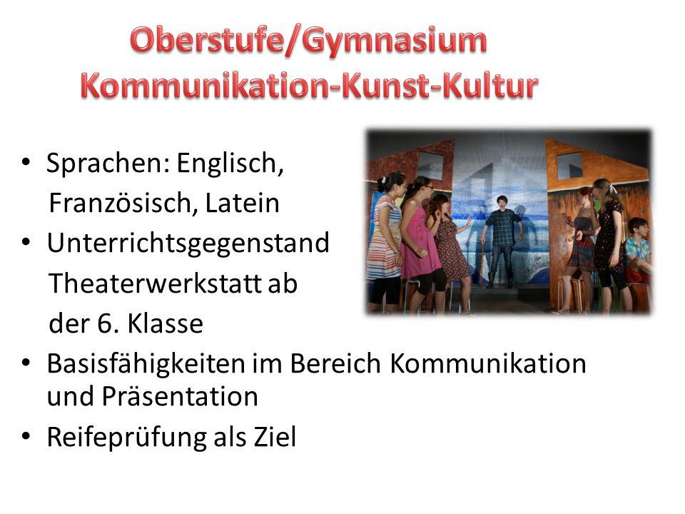 Oberstufe/Gymnasium Kommunikation-Kunst-Kultur