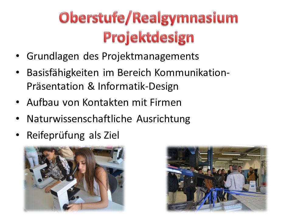 Oberstufe/Realgymnasium Projektdesign