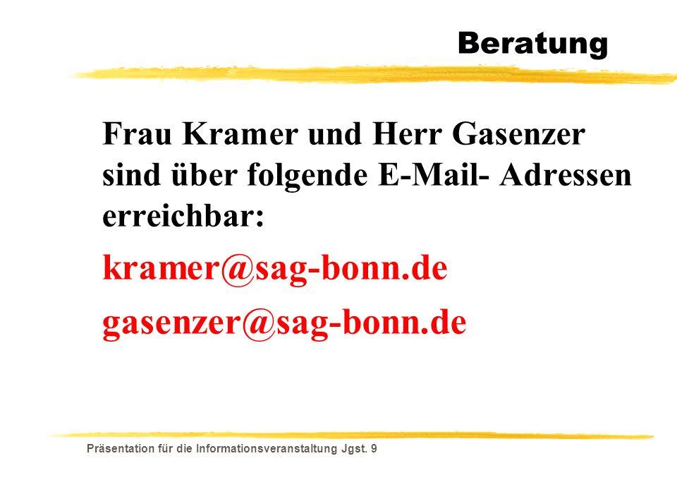 kramer@sag-bonn.de gasenzer@sag-bonn.de