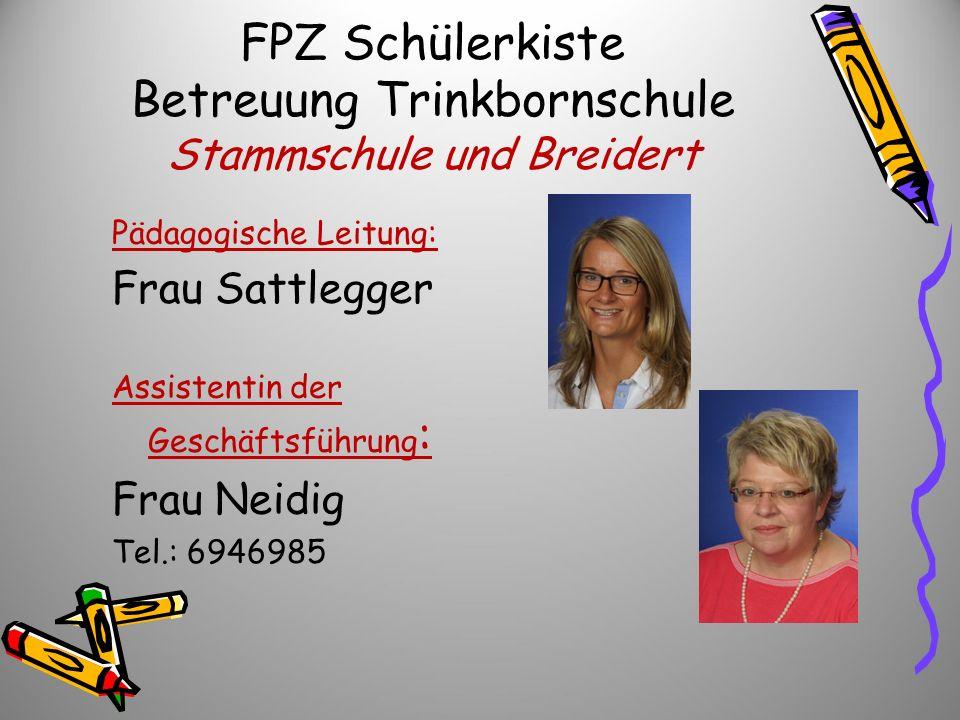 FPZ Schülerkiste Betreuung Trinkbornschule Stammschule und Breidert