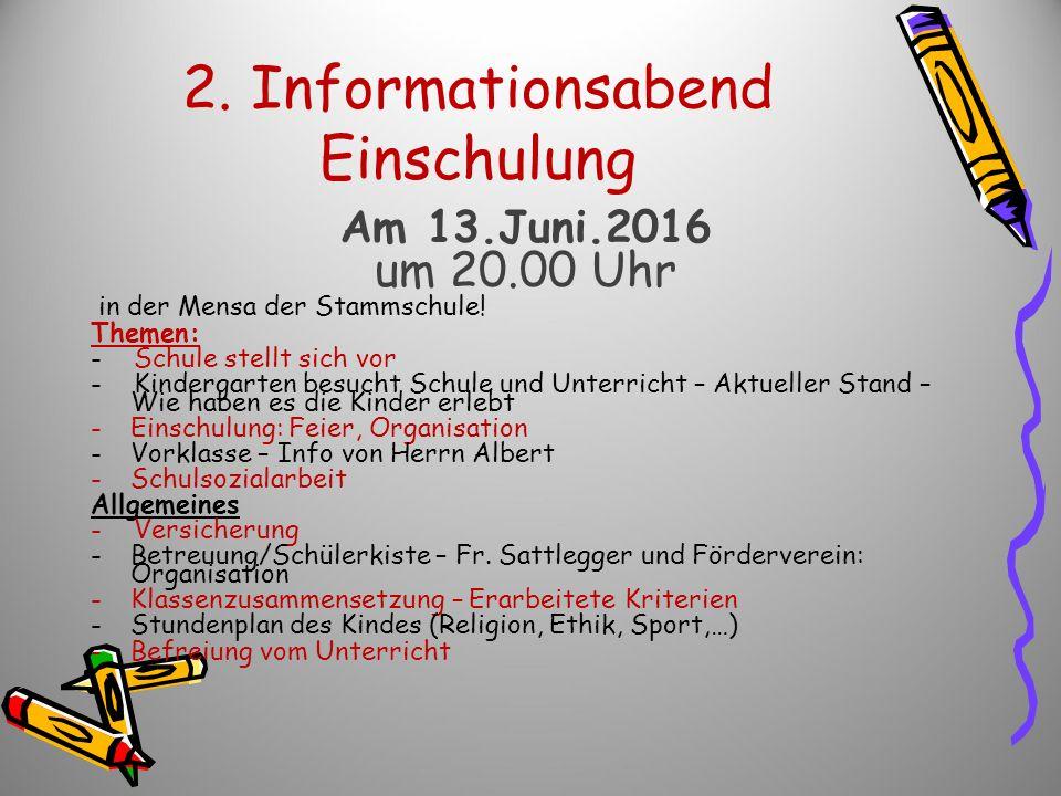 2. Informationsabend Einschulung