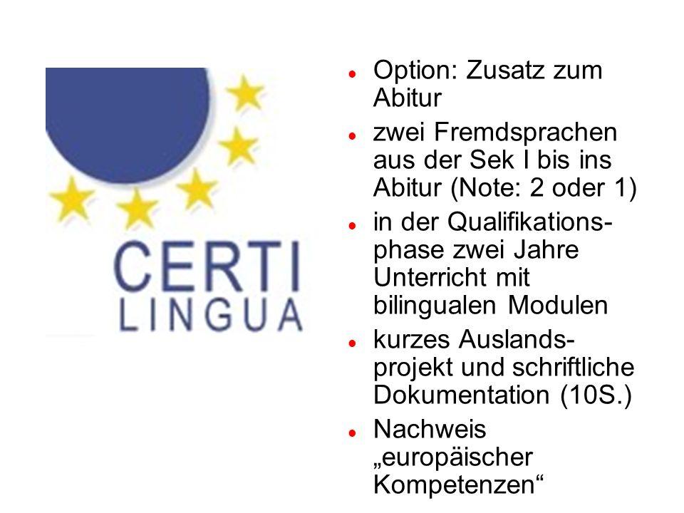 Option: Zusatz zum Abitur