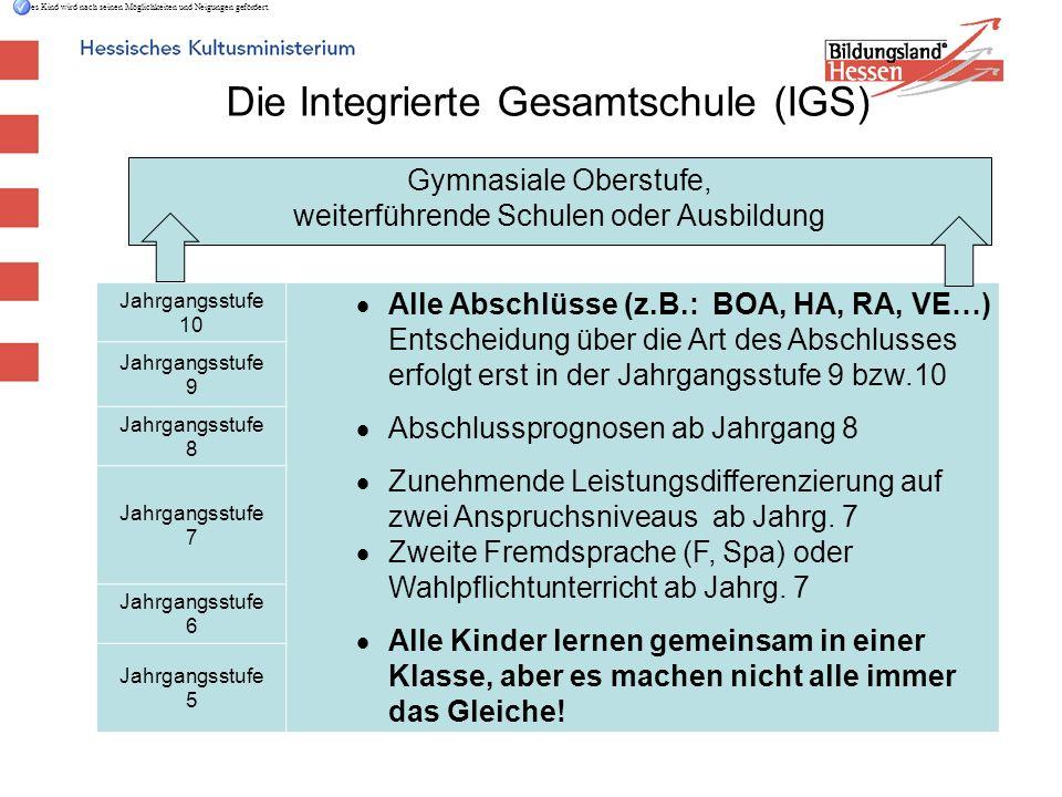 Die Integrierte Gesamtschule (IGS)