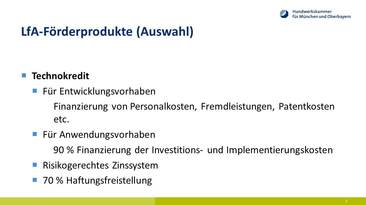 LfA-Förderprodukte (Auswahl)