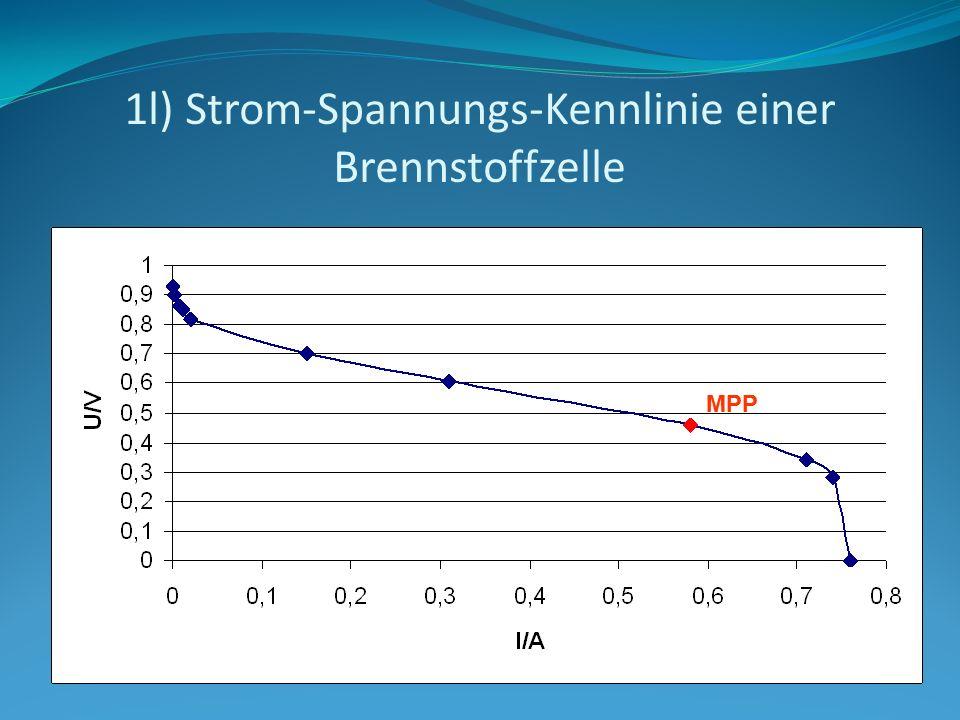 1l) Strom-Spannungs-Kennlinie einer Brennstoffzelle