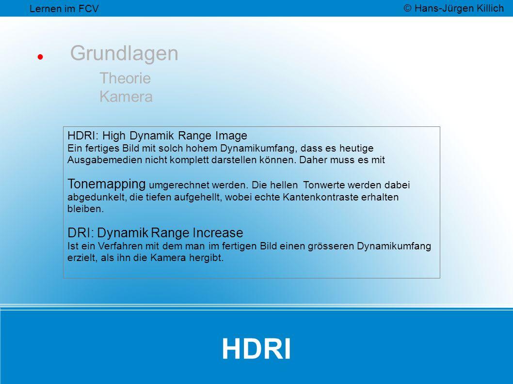 HDRI Grundlagen Theorie Kamera