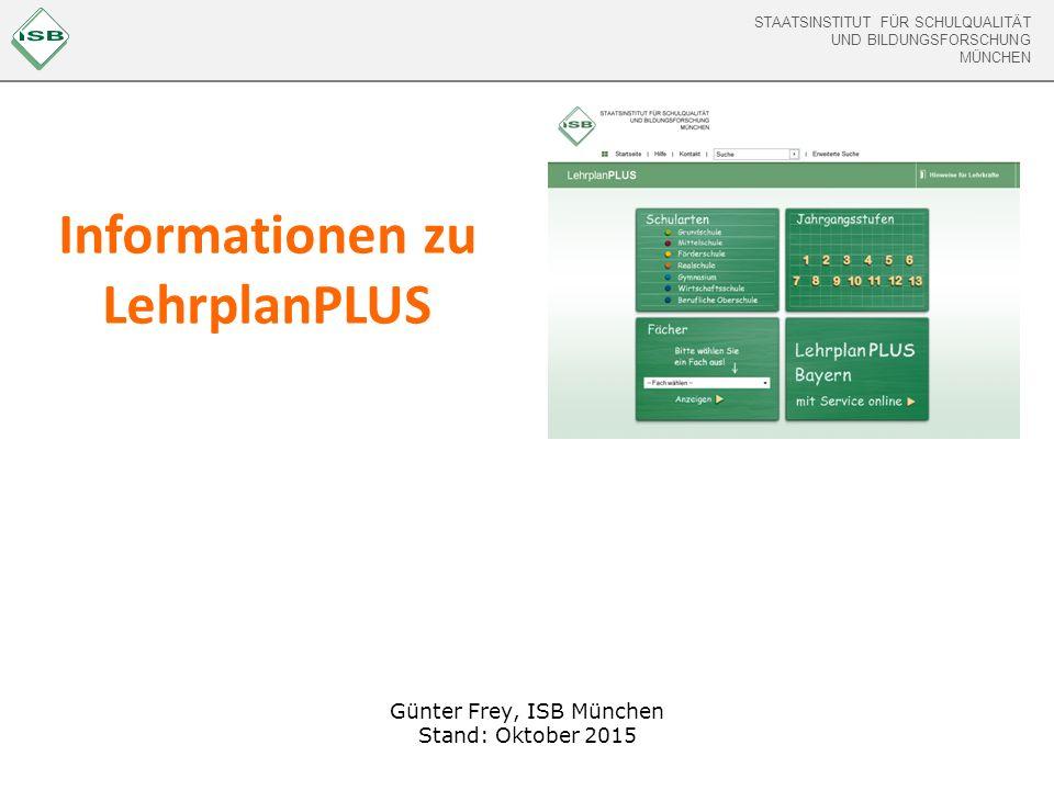 Informationen zu LehrplanPLUS