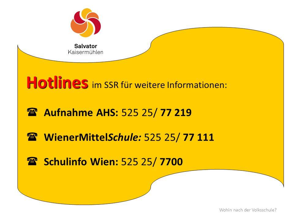 Hotlines im SSR für weitere Informationen: