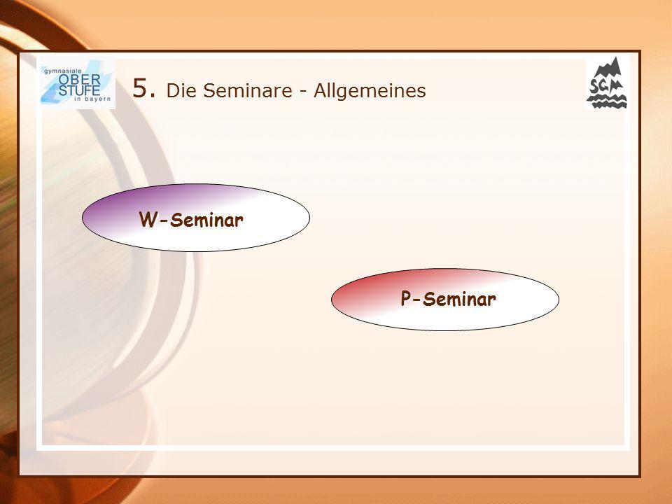 5. Die Seminare - Allgemeines