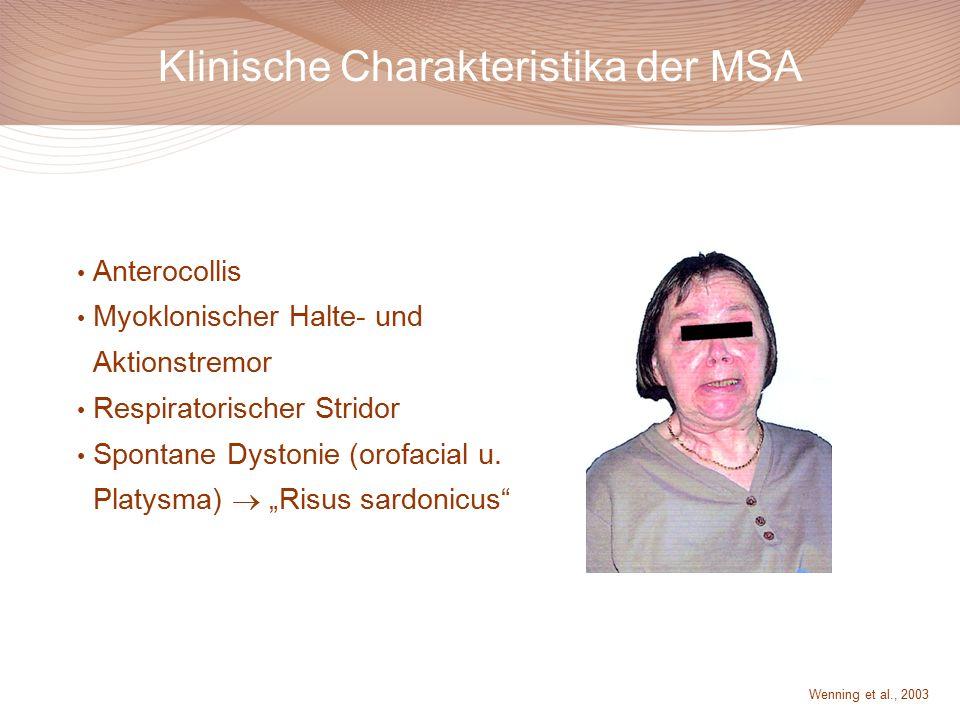 Klinische Charakteristika der MSA