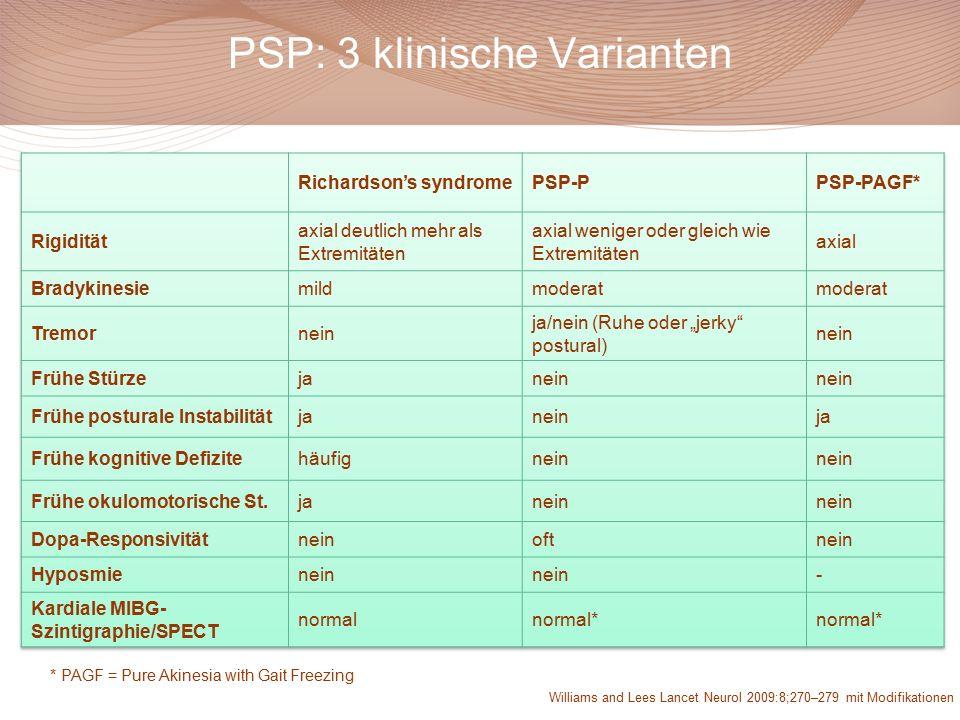 PSP: 3 klinische Varianten