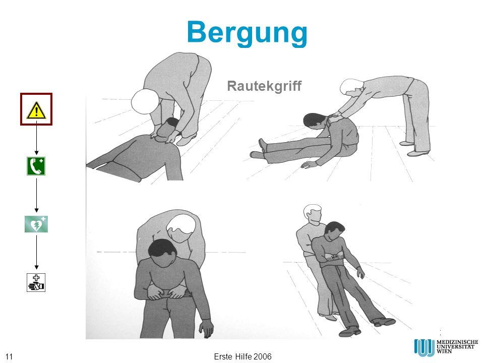 Bergung Rautekgriff © ÖRK Erste Hilfe 2006