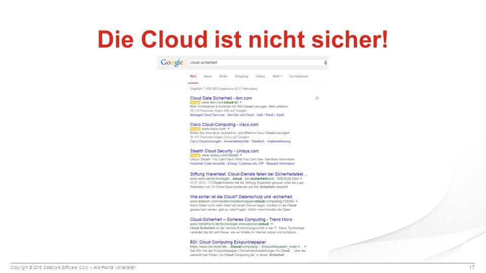 Die Cloud ist nicht sicher!