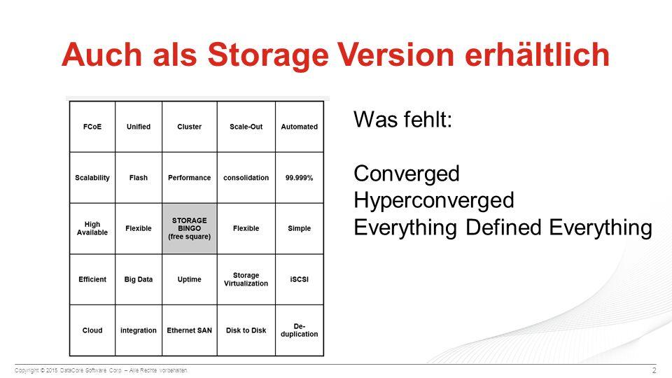 Auch als Storage Version erhältlich