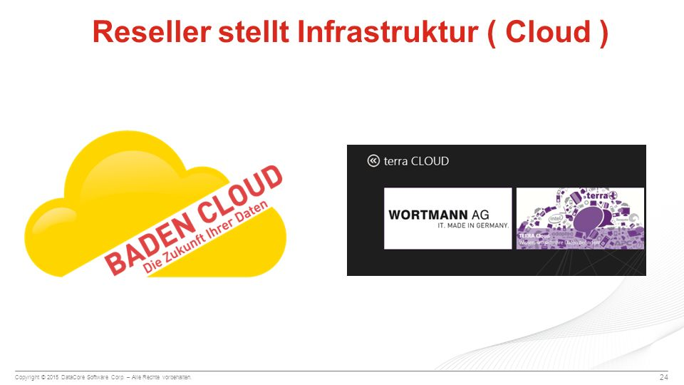 Reseller stellt Infrastruktur ( Cloud )
