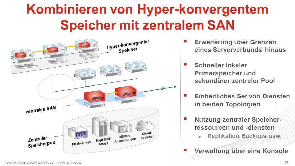 Kombinieren von Hyper-konvergentem Speicher mit zentralem SAN