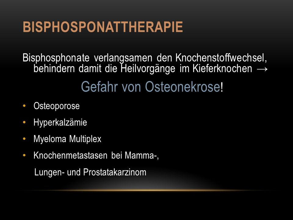 Bisphosponattherapie