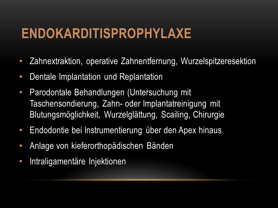 Endokarditisprophylaxe