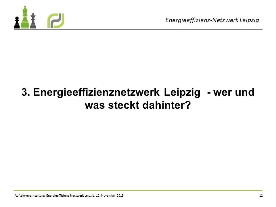 3. Energieeffizienznetzwerk Leipzig - wer und was steckt dahinter