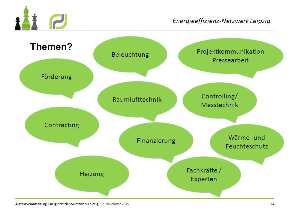 Themen Energieeffizienz-Netzwerk Leipzig Beleuchtung