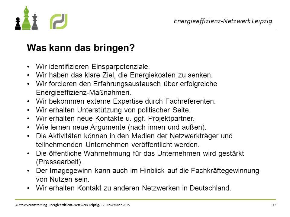 Was kann das bringen Energieeffizienz-Netzwerk Leipzig