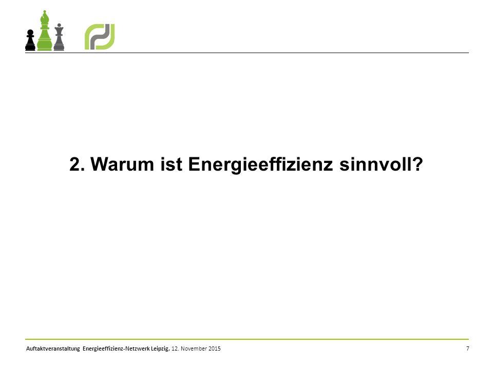2. Warum ist Energieeffizienz sinnvoll