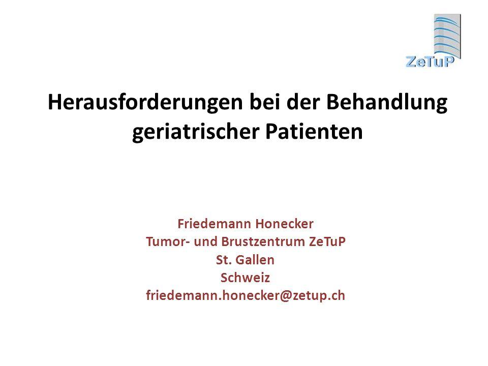 Herausforderungen bei der Behandlung geriatrischer Patienten
