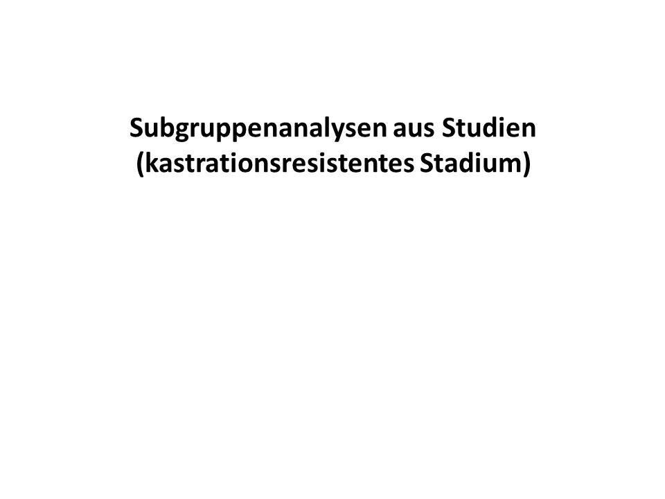 Subgruppenanalysen aus Studien (kastrationsresistentes Stadium)