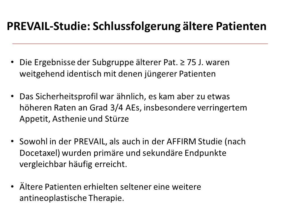 PREVAIL-Studie: Schlussfolgerung ältere Patienten