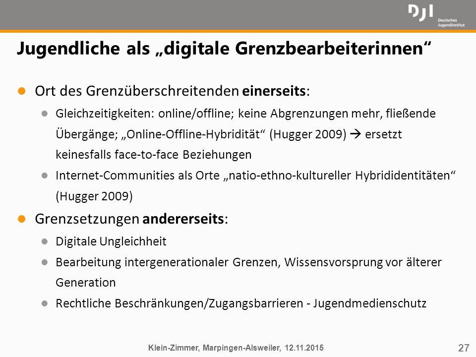 """Jugendliche als """"digitale Grenzbearbeiterinnen"""