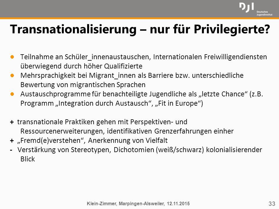 Transnationalisierung – nur für Privilegierte