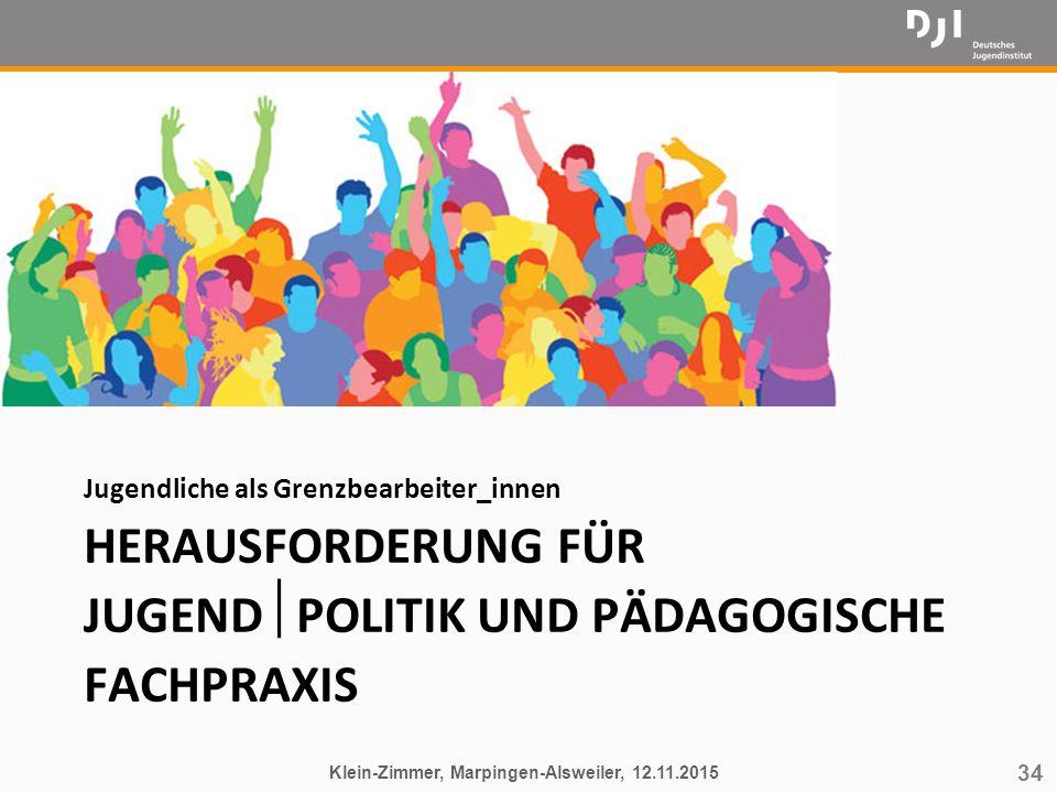 Herausforderung für Jugendpolitik und Pädagogische Fachpraxis