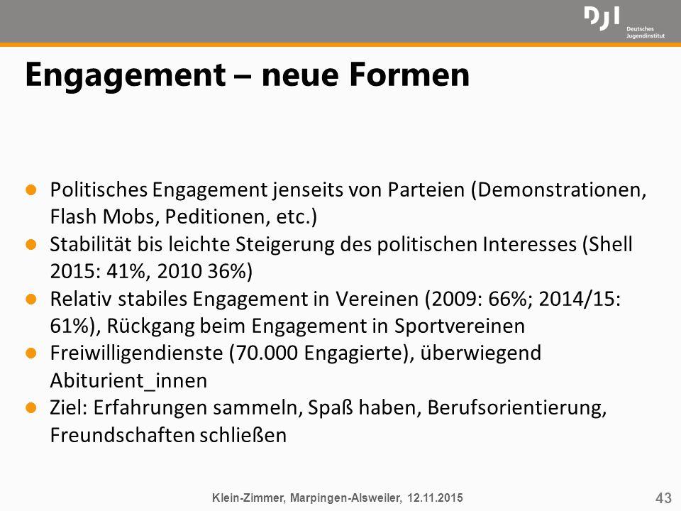 Engagement – neue Formen