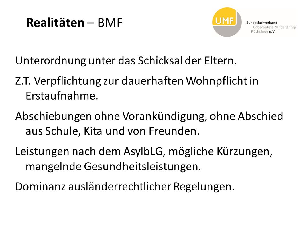 Realitäten – BMF