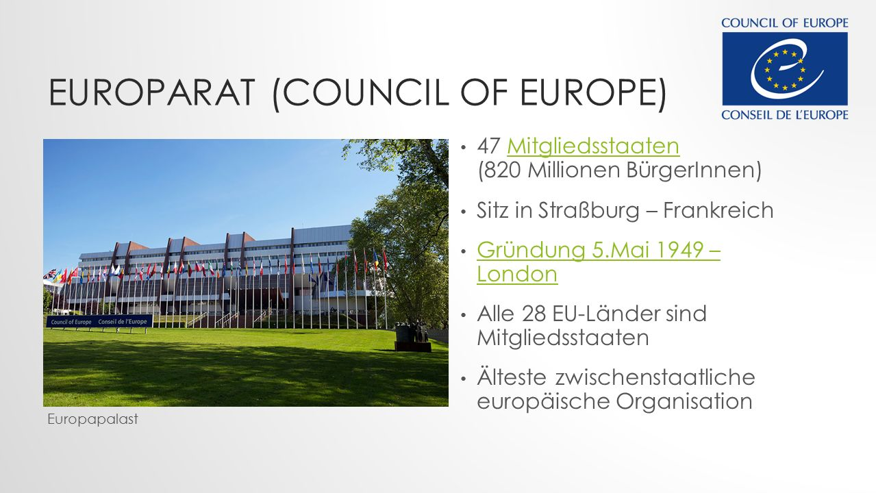 Europarat (Council of Europe)