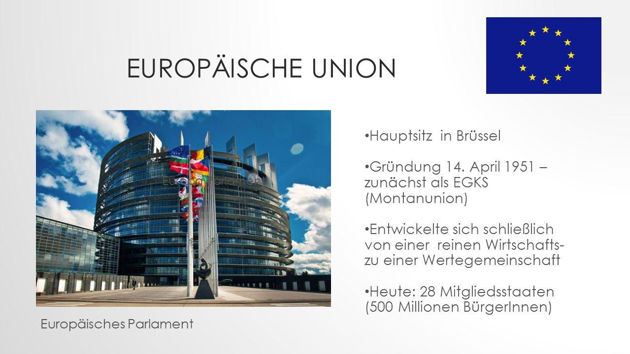 Europäische Union Hauptsitz in Brüssel