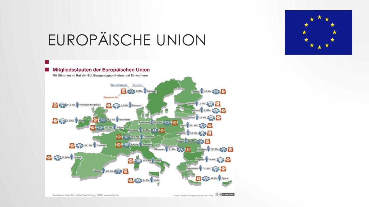 Europäische Union Weitere Beitritte nach der Gründung der EGKS durch Deutschland, Belgien, Frankreich, Italien Luxemburg und die Niederlande: