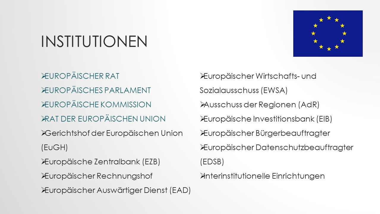 Institutionen EUROPÄISCHER RAT