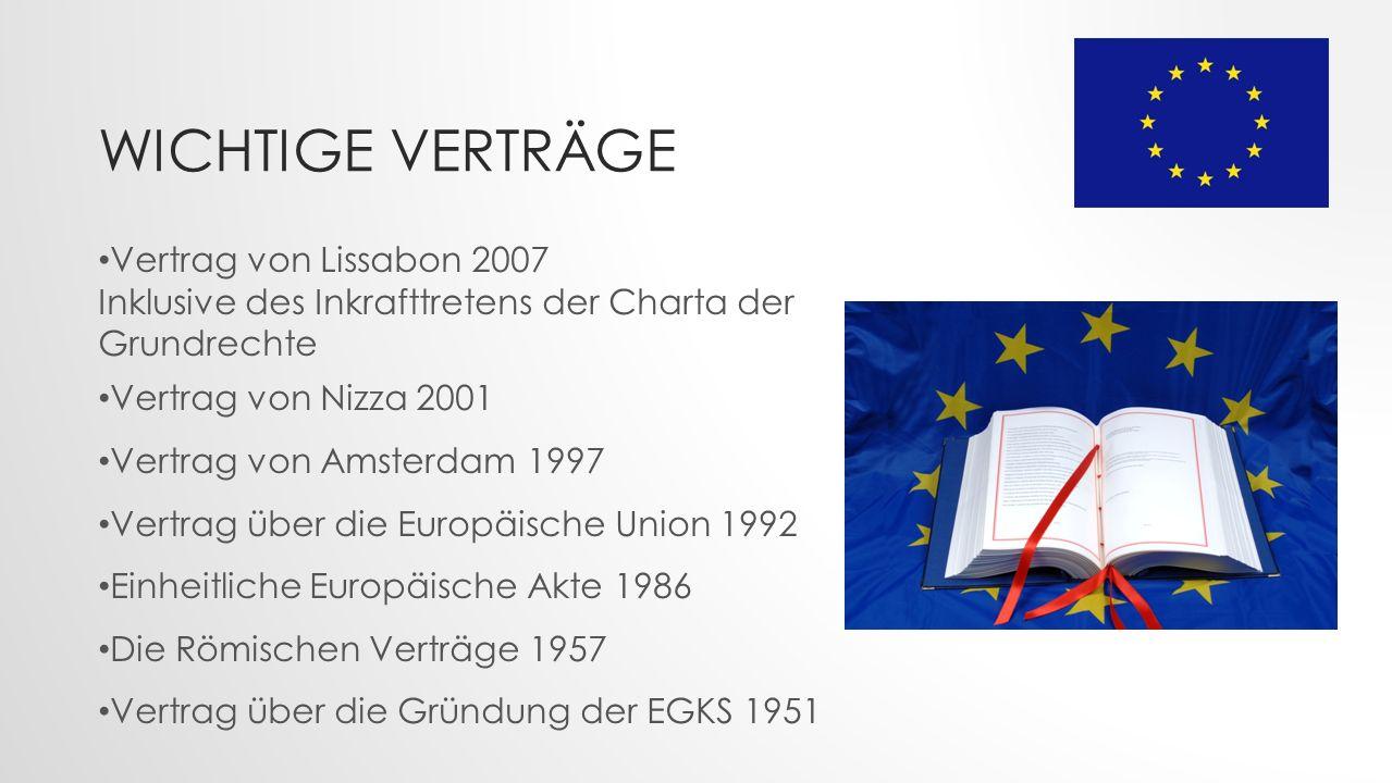 Wichtige Verträge Vertrag von Lissabon 2007