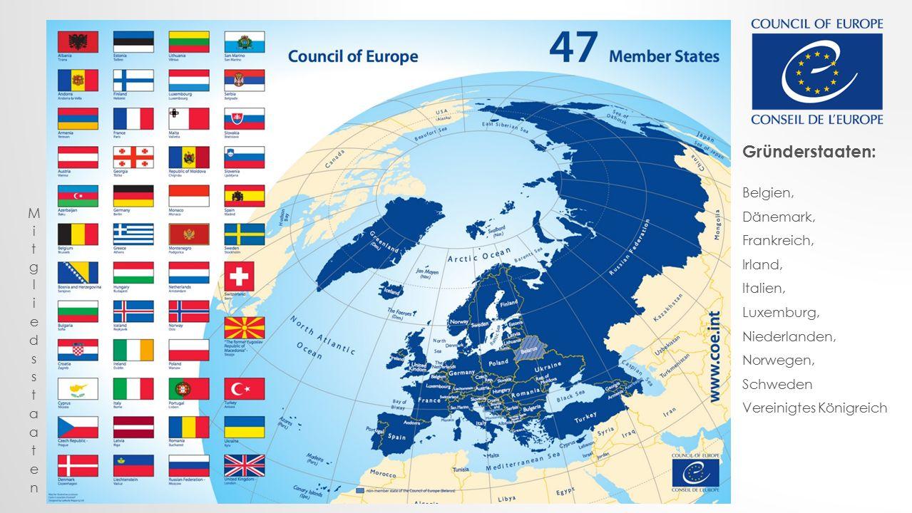 Gründerstaaten: Belgien, Dänemark, Frankreich, Irland,