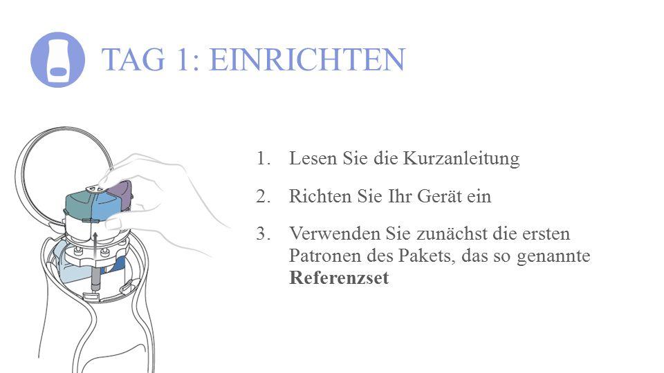 TAG 1: EINRICHTEN Lesen Sie die Kurzanleitung