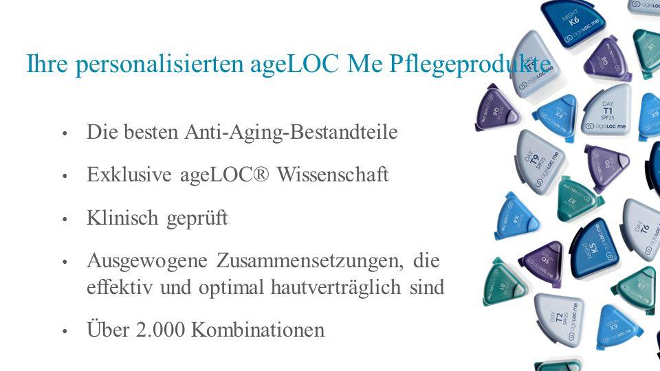 Ihre personalisierten ageLOC Me Pflegeprodukte